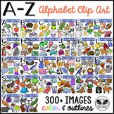 Alphabet Clip Art and Beginning Sounds A-Z Clipart Bundle