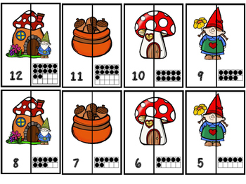A-Z And 1-20 Gnome Home Puzzles