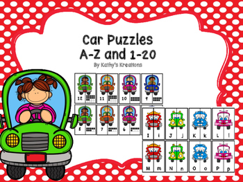 Car Puzzles A-Z And 1-20