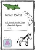 Animal Alphabet Chart - Handwriting A-Z - QLD beginners script