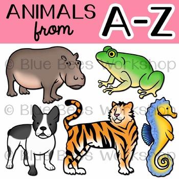 Animal Alphabet Clip Art