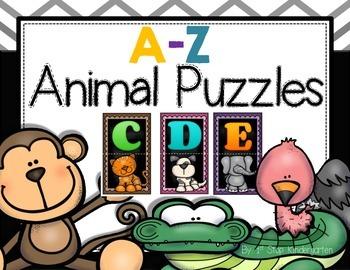 A-Z Animal Puzzles; alphabet puzzle; beginning sound