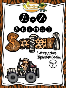 A-Z Animal Safari - 3 Interactive Books