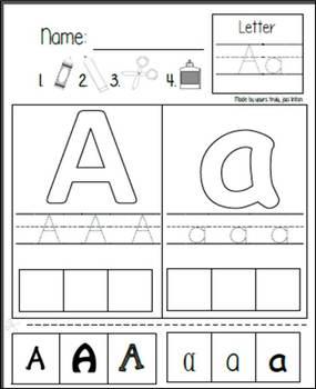 A-Z Autistic Rebus Worksheets