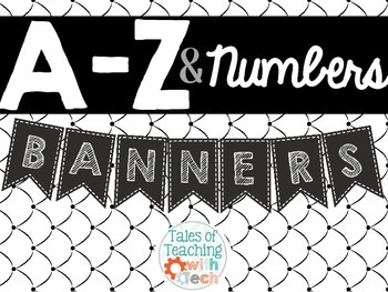 A - Z Banners and Numbers