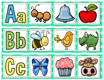 A - Z  Beginning Letter & Sound Picture Match