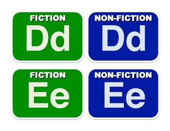A-Z Book Bin Labels