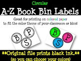 A-Z Book Bin Labels (Circles)