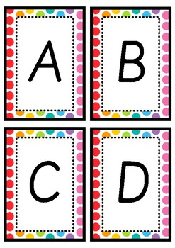 A-Z Book Bin Labels - Rainbow Pop Theme