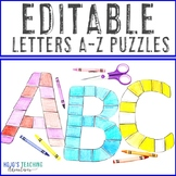 A-Z Bulletin Board Letters EDITABLE: Make Your Own Back to