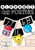 A-Z CLASSROOM ALPHABET POSTERS (BLACK AND WHITE)