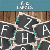 A-Z Chalkboard Library Labels