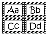 A-Z Chevron Black and White Letters