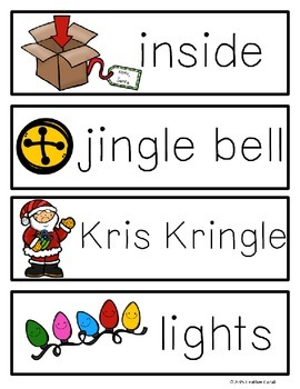 A-Z Christmas Holiday Write The Room Activities & Word Wall Cards