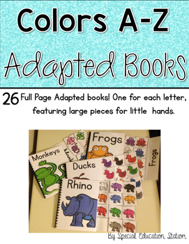 A-Z Color Alphabet Adapted Book