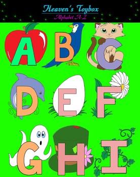 A-Z Color Clip Art