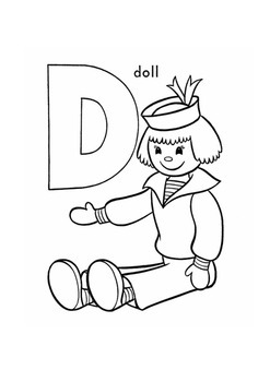 A-Z Coloring Book that goes with my A-Z Flashcards