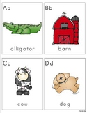 A-Z Coloring Pages and Flashcards