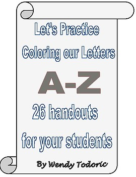 A-Z Coloring book of 26 Handouts!