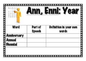 A-Z Common Root Words Activity