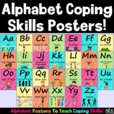 A-Z Coping Skills Posters (Editable)