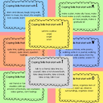 A-Z Coping Skills Flashcards