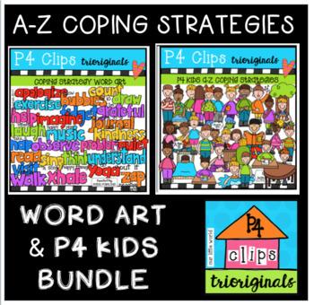 A-Z Coping Strategies BUNDLE (P4 Clips Trioriginals Clip Art)