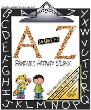 A-Z Back to School Activity Journal:Math,Reading,Writing,S