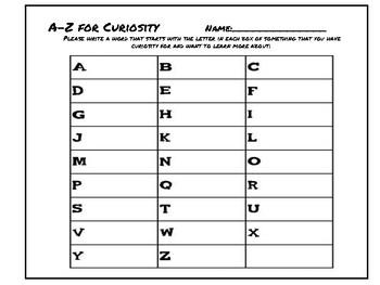 A-Z Curiosity