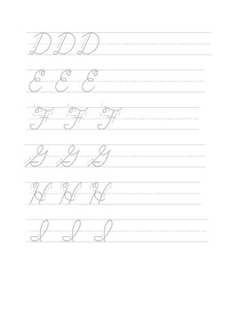 A-Z Cursive Handwriting (Upper and Lowercase practice)
