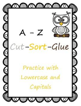 A-Z Cut Sort Glue FREEBIE