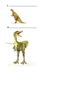 A-Z Dinosaur Worksheet