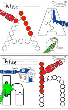 A-Z  Dot and Color Letter Learning BUNDLE