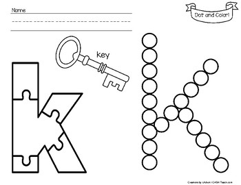 A-Z  Dot and Color Letter Learning - Lower Case Letters