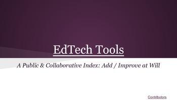 A-Z EdTech Tools Collaborative Google Presentation
