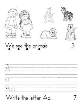 A-Z Emergent reader books with tracking dots