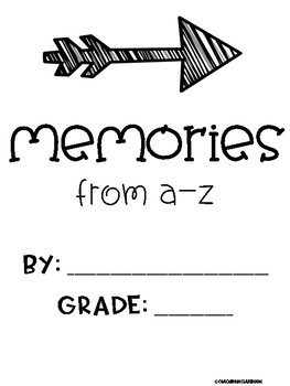 A-Z End of Year Memory Book