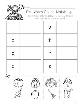 A-Z Fall Write The Room Activities & Word Wall Cards