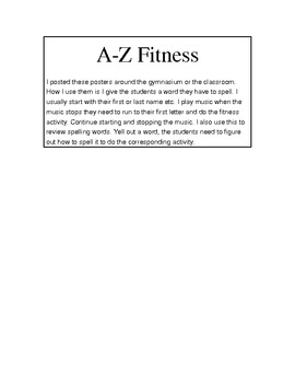 A-Z Fitness (Gym or DPA)
