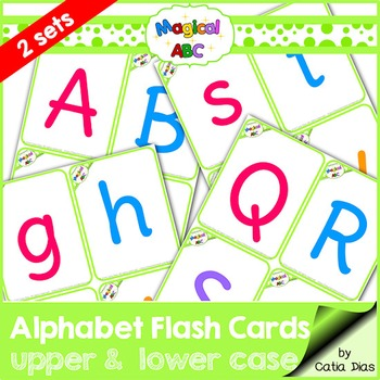 Alphabet Flash Cards - Uppercase and Lowercase
