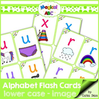 A-Z Flash Cards - Magical ABC - Lowercase with Images