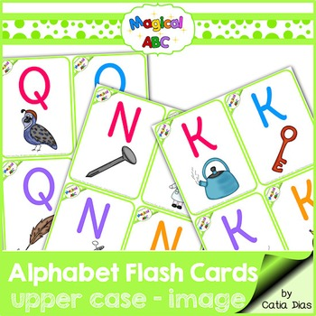 A-Z Flash Cards - Magical ABC - Uppercase with Images