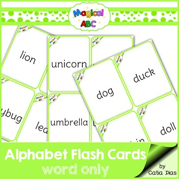 A-Z Flash Cards - Magical ABC - Words Only