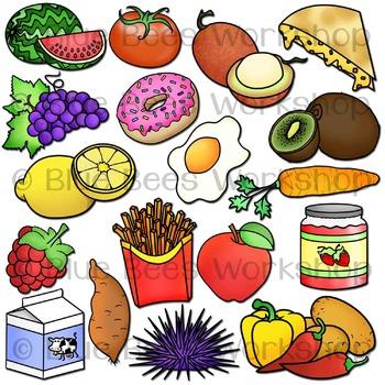 Alphabet Food Clip Art