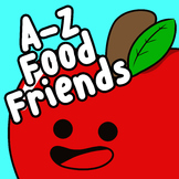 A-Z Food Friends (Alphabet Food Clip Art)