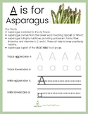 A - Z Food Worksheets