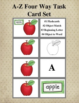 A-Z Four Way Task Card Set