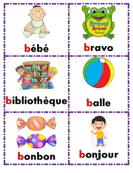A-Z French word cards - Mur De Mots