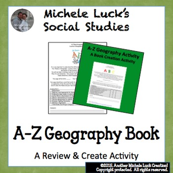 A-Z Geography 5 Themes/Place & Location Book Assignment