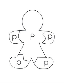 A-Z Gingerbread Man Upper-Lower Case Letter Matching Puzzle